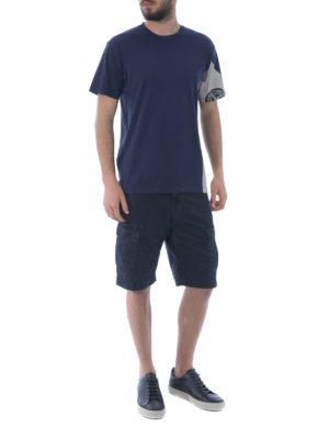 STONE ISLAND: pantaloni shorts online - Bermuda cargo in cotone blu scuro