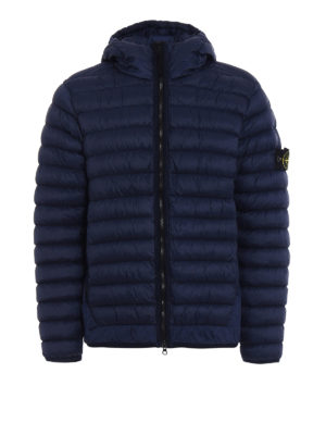 Stone Island: padded jackets - Garment dyed hooded down jacket