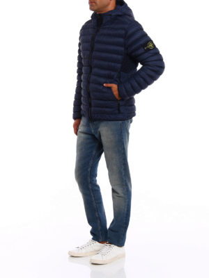 Stone Island: padded jackets online - Garment dyed hooded down jacket