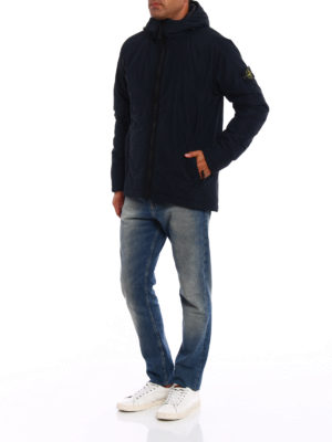 Stone Island: padded jackets online - Reps Nylon hooded padded jacket