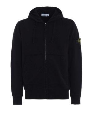 Stone Island: Sweatshirts & Sweaters - Cotton fleece zipped hoodie