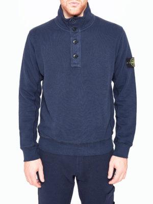 Stone Island: Sweatshirts & Sweaters online - Buttoned collar sweatshirt