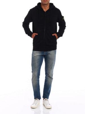 Stone Island: Sweatshirts & Sweaters online - Cotton fleece zipped hoodie