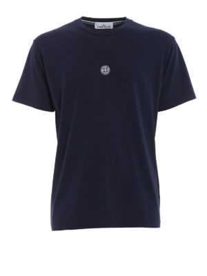 Stone Island: t-shirts - Graphic Eight dark blue T-shirt