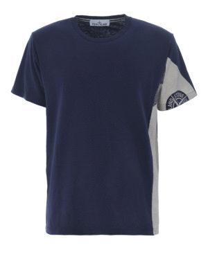 STONE ISLAND: t-shirt - T-shirt blu Graphic Five Folded