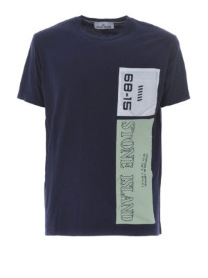 Stone Island: t-shirts - Graphic Nine ink cotton T-shirt
