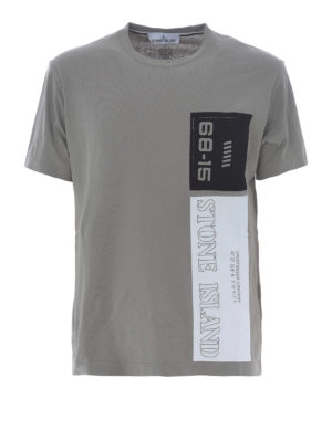 Stone Island: t-shirts - Graphic Nine taupe cotton T-shirt