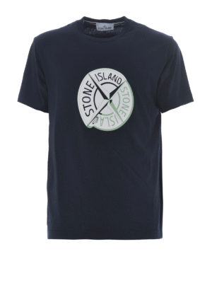 Stone Island: t-shirts - Graphic Ten dark blue T-shirt