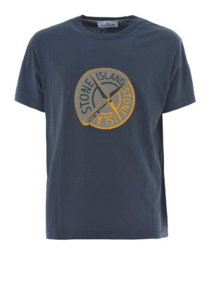 Stone Island: t-shirts - Graphic Ten dark grey T-shirt