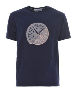 Stone Island: t-shirts - Graphic Ten ink cotton T-shirt