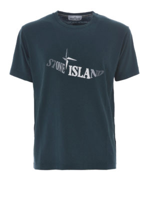 Stone Island: t-shirts - Graphic Twelve dark green Tee