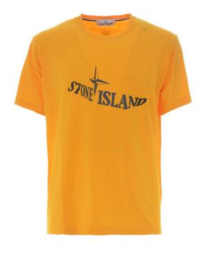 Stone Island: t-shirts - Graphic Twelve yellow T-shirt