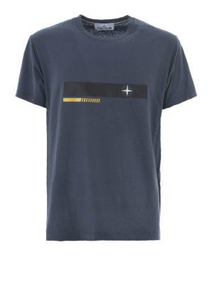 Stone Island: t-shirts - Graphic Two dark grey T-shirt