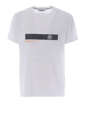 Stone Island: t-shirts - Graphic Two white cotton Tee