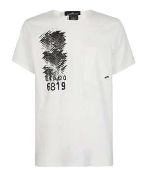 STONE ISLAND: t-shirt - T-shirt in jersey makò con stampe