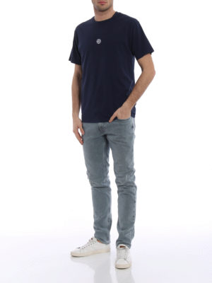 Stone Island: t-shirts online - Graphic Eight dark blue T-shirt