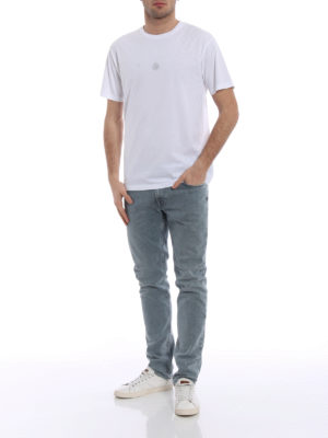 Stone Island: t-shirts online - Graphic Eight white cotton Tee