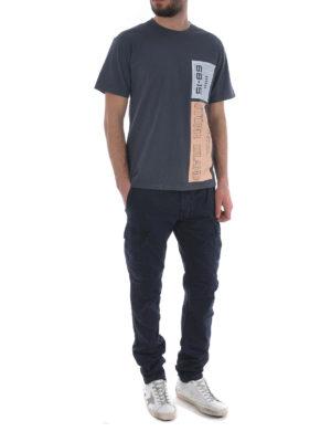 Stone Island: t-shirts online - Graphic Nine dark grey T-shirt
