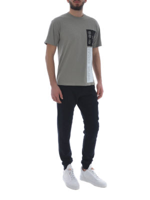 Stone Island: t-shirts online - Graphic Nine taupe cotton T-shirt