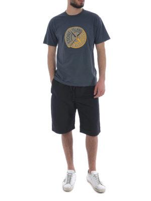 Stone Island: t-shirts online - Graphic Ten dark grey T-shirt