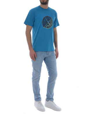 Stone Island: t-shirts online - Graphic Ten light blue T-shirt