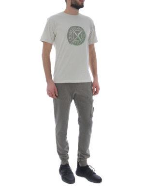 Stone Island: t-shirts online - Graphic Ten raw cotton T-shirt