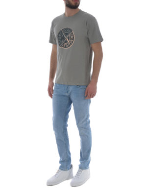 Stone Island: t-shirts online - Graphic Ten taupe cotton T-shirt