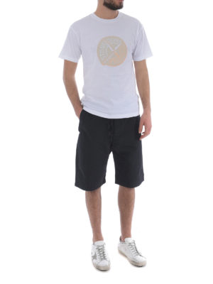 Stone Island: t-shirts online - Graphic Ten white cotton Tee