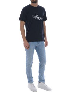 Stone Island: t-shirts online - Graphic Twelve dark blue T-shirt