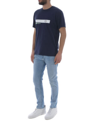 Stone Island: t-shirts online - Graphic Two blue cotton T-shirt