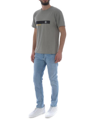 Stone Island: t-shirts online - Graphic Two taupe cotton T-shirt