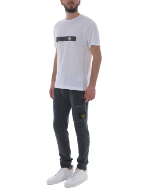 Stone Island: t-shirts online - Graphic Two white cotton Tee