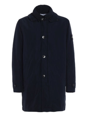 Stone Island: trench coats - Micro Reps padded trench coat