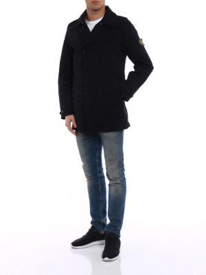 Stone Island: trench coats online - Dark blue David-TC trench coat