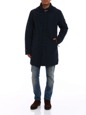 Stone Island: trench coats online - Micro Reps padded trench coat