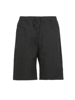 STONE ISLAND: pantaloni shorts - Bermuda neri Naslan antigoccia