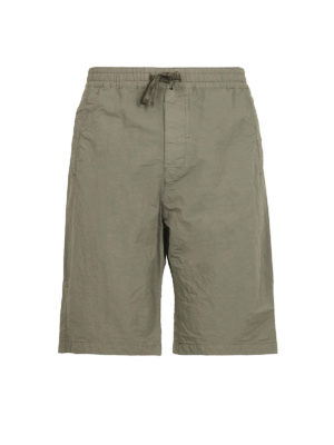 STONE ISLAND: pantaloni shorts - Bermuda oliva Naslan antigoccia