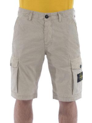 Stone Island: Trousers Shorts online - Gabardine cotton cargo shorts