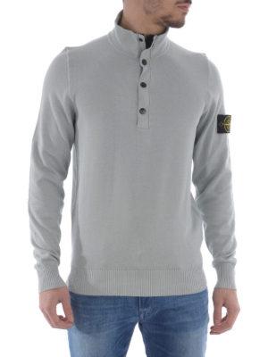 Stone Island: Turtlenecks & Polo necks online - Cotton button top