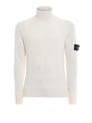 STONE ISLAND: maglia a collo alto e polo - Maglia in pura lana a coste