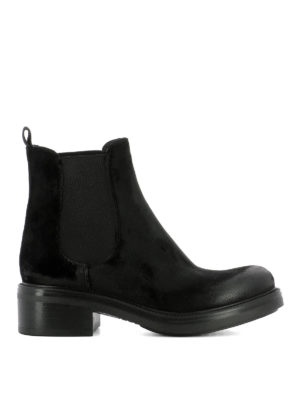 Strategia: ankle boots - Black velvet ankle boots