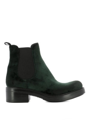 Strategia: ankle boots - Dark green velvet ankle boots