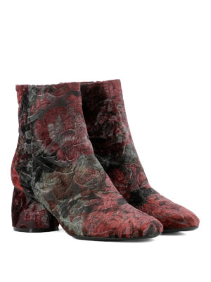 Strategia: ankle boots online - Patterned velvet ankle boots