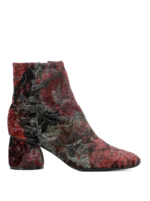Strategia: ankle boots - Patterned velvet ankle boots