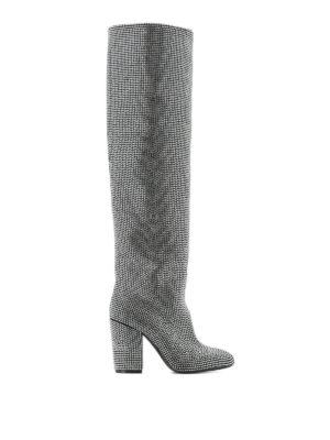 STRATEGIA: stivali - Stivali Alice in camoscio e strass