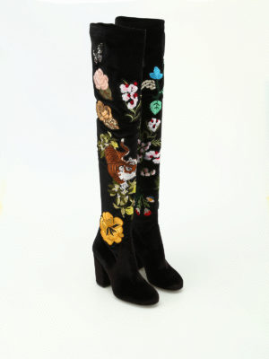 Strategia: boots online - Alice embroidered velvet boots