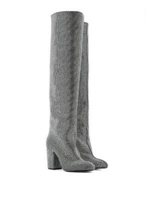STRATEGIA: stivali online - Stivali Alice in camoscio e strass