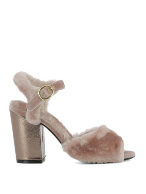 Strategia: sandals - Pink fur heeled sandals