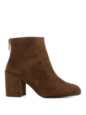 Stuart Weitzman: ankle boots - Bacari light brown suede booties
