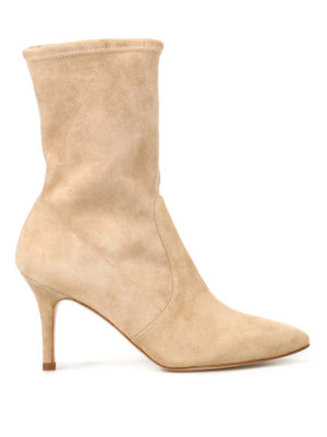 Stuart Weitzman: ankle boots - Cling suede booties